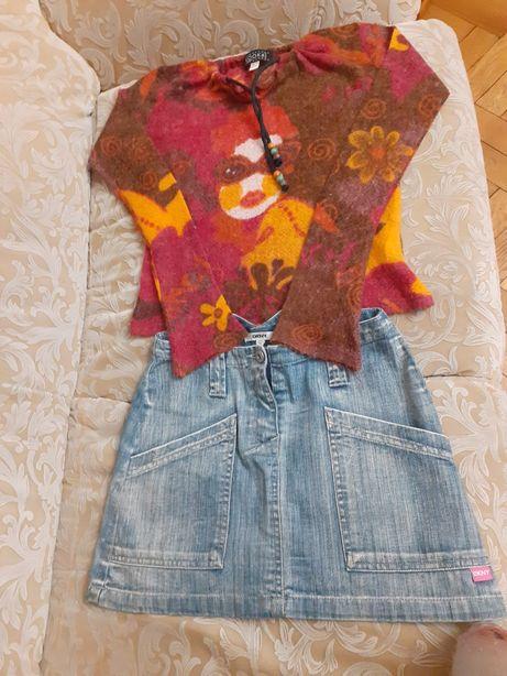 Свитер теплый кофта Франция юбка как Новая 10 лет Kookai DKNY