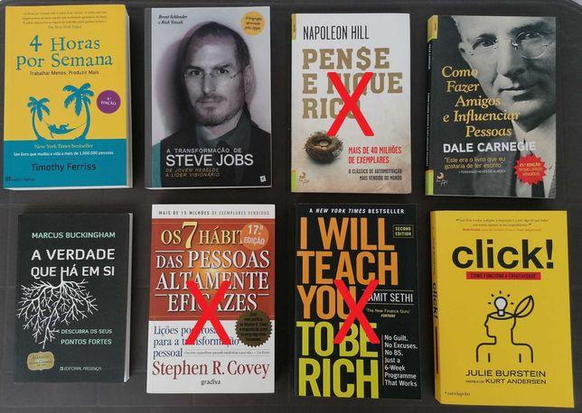 Livros de Investimentos, Desenvolvimento Pessoal, Auto-Ajuda e Gestão