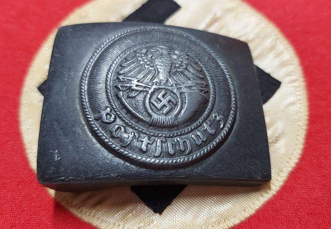 Koppelschloss mit herst. POSTSCHULZ Alemanha nazi-suástica