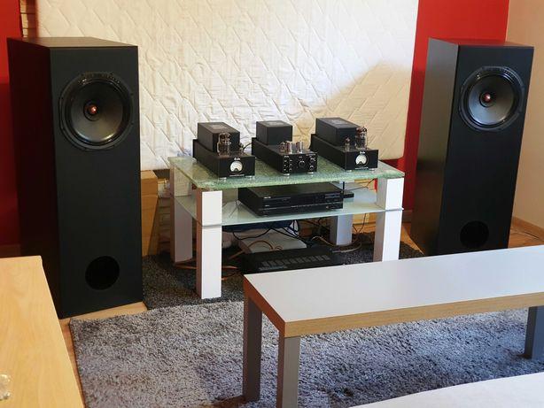 Audiofilski zestaw lampowy + kolumny szerokopasmowe Audio Nirvana