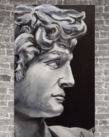 Интерьерная картина маслом, портрет Давида 30х50