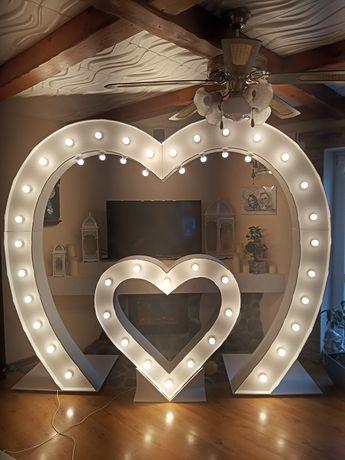 Dekoracja love serce litery LED 3d