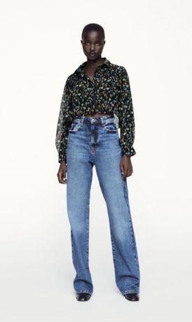 *Oportunidade* Blusa Cropped estampada Zara