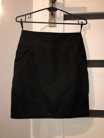 spódnica elegancka wizytowa mini czarna ołówkowa