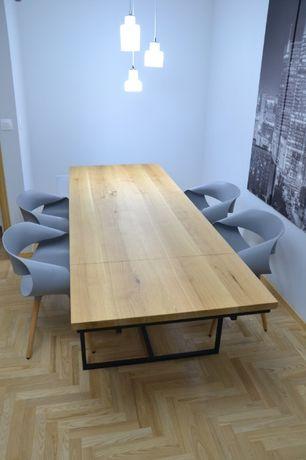 Stół drewniany lity dąb loft gotowy do odbioru