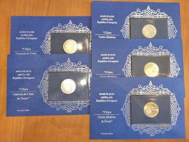 Moedas 5 Euro Prata comemorativas