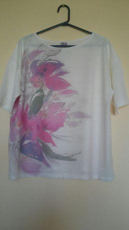 Nowa, bluzka z pięknym wzorem rozm XL(48-50)
