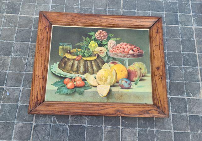 Quadro antigo Motivo Frutas