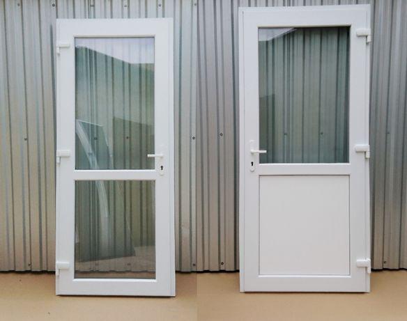 Drzwi zewnętrzne PCV 90x210 pvc białe sklepowe TRANSPORT CAŁA POLSKA