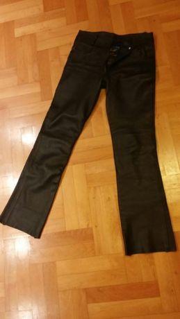 Spodnie damskie skórzane