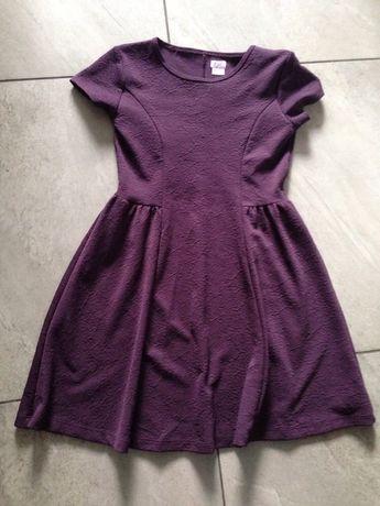 Sukienka fiolet wino 11-12 lat F&F