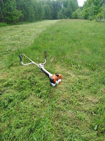 Koszenie traw, nieużytków kosą spalinowa, wycinka drzew