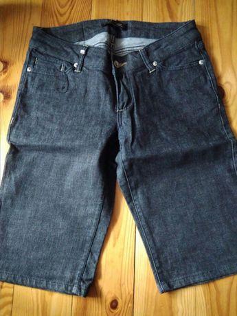Spodnie rybaczki bermudy jeansowe
