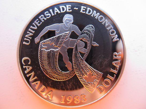 1 доллар 1983 года из серебра Канада.