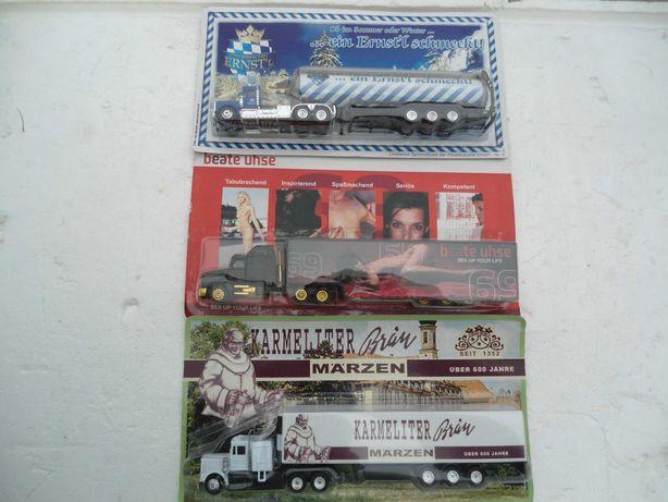 Lote de 3 camiões escala 1:87 com publicidade