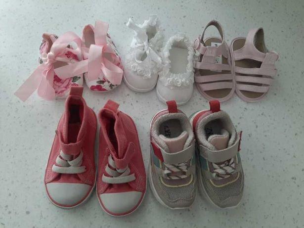 Пинетки кроссовки для девочки 0-12 мес, Zara 26 розмір
