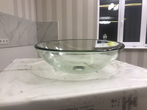 Раковина, умывльник чаша прозрачная!