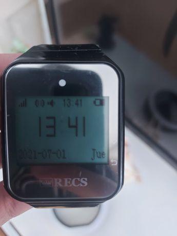 Пейджер часы для официанта или персонала R-02 Black Watch Pager RECS U