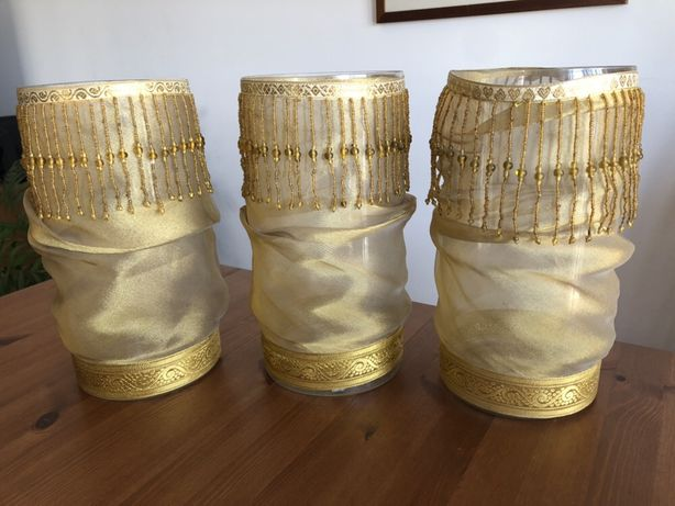 Porta velas/ potes de vidro/ jarras