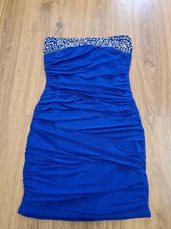 Sukienka bandażowa niebieska