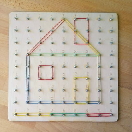 Качественный математический геоборд 33*33 см. Геометрик, геоборд.