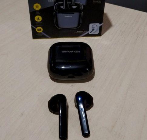 Беспроводные наушники MDR T26 BT+case AWEI Чёрные