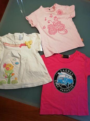 3 Tshirt menina Mayoral, Petit Patapon Sagresthsirts.com Nova e como n