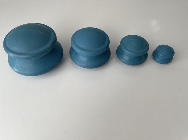 Chińskie bańki gumowe bezogniowe akupunkturowe 4 szt.