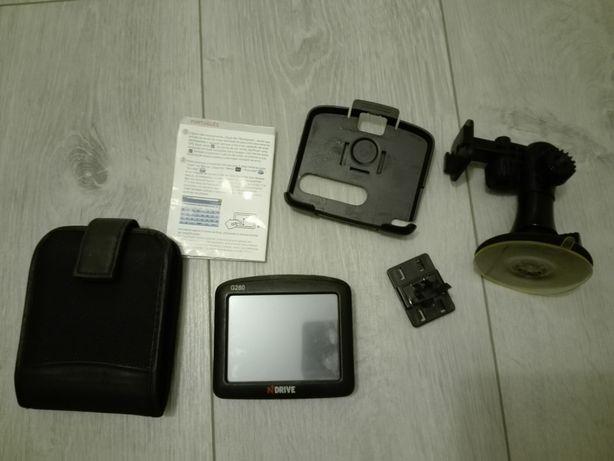 GPS com manual instruções, bolsa e suporte