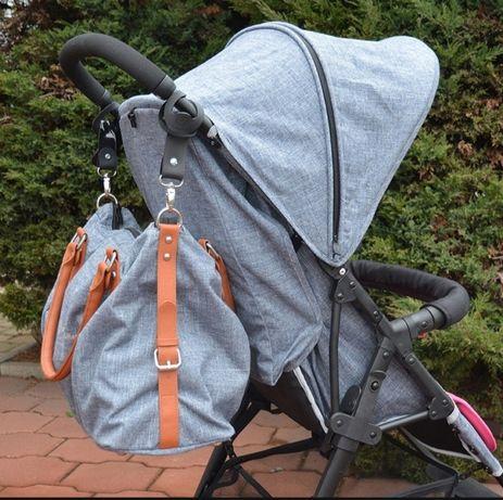 Uchwyty na torbę/plecak do wózka