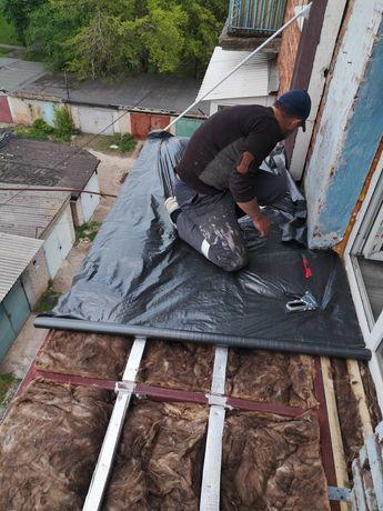 Укрепление плиты, вынос плиты, расширение балкона, реставрация плит