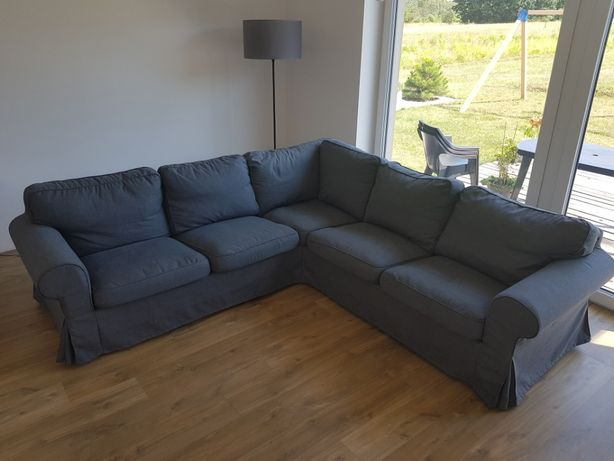 Kanapa Sofa Narożnik Zdejmowane Pokrycia Super Stan EKTORP 243x243 cm