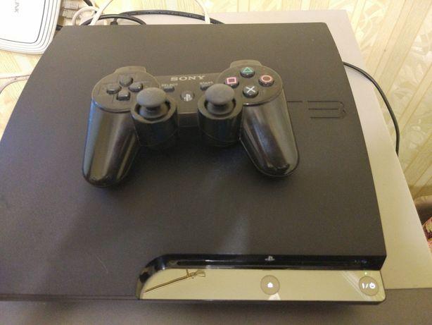 Продам PS3 slim 320гб прошитую