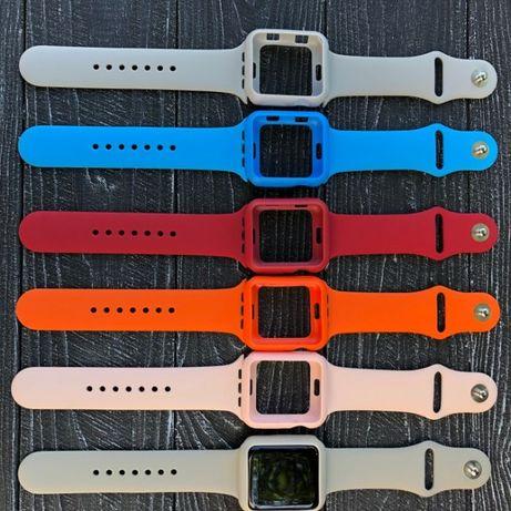 Чехол-бампер силиконовый для Apple Watch 38мм и 42мм все серии
