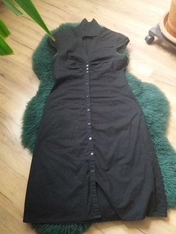 Czarna letnia sukienka H&M