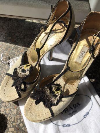 Туфли на высоком каблуке и платформе Prada винтаж винтажные dior gucci
