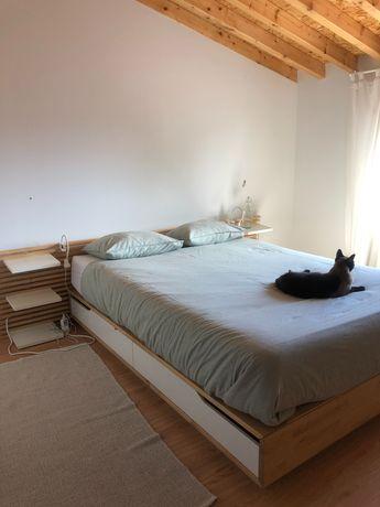 Cama de casal IKEA + colchão + cabeceira