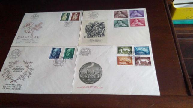 Selos  500 FDCs 1º. dia circulação de 1956 a 1979