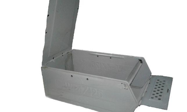 Pojemnik metalowy kontener na śruby skrzynka na listy