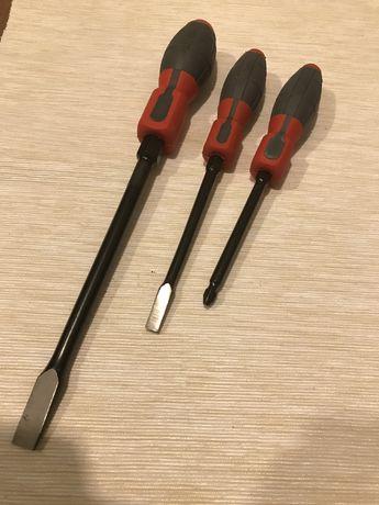 3 śrubokręty/wkrętaki KUŹNIA RWWr: 2D+1,6x10+1,0x6,5. Nowe
