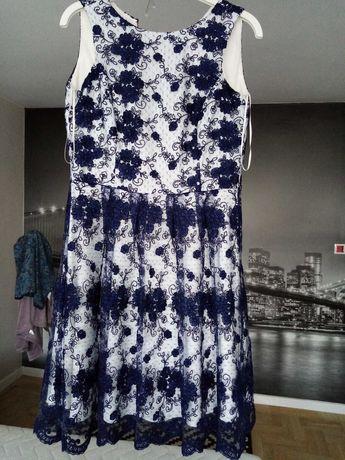 Sukienka z koronki rozm 38