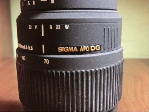 Объектив Sigma APO DG 70-300mm 4-5.6