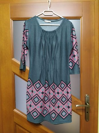 Sukienka midi wzorzysta r. 42