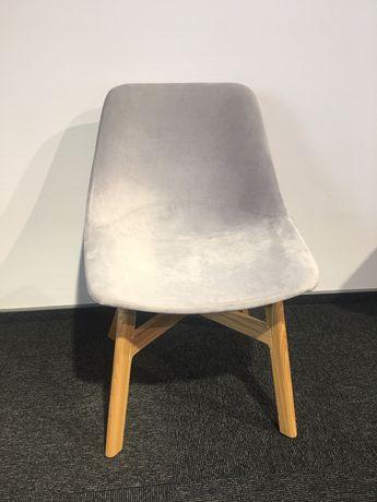 krzesło Mishell noti welurowe szare design