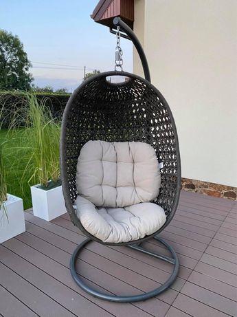 Wiszący fotel ogrodowy kokon technorattan