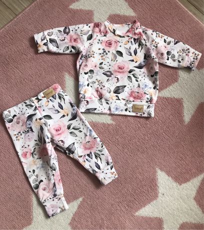 Dresik handmade od sercem szyte dla dziewczynki piekny 68