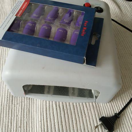 Lampa UV 36W na lakier hybrydowy żel Nowe Plus klipsy