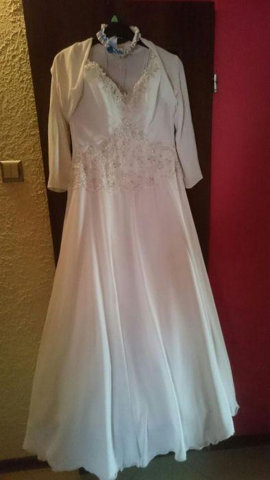 Suknia ślubna rozm.40 buciki gratis 37 Lubin - image 1