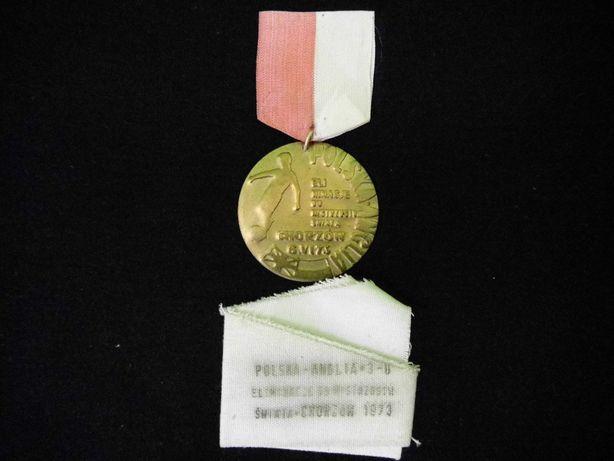 Medal pamiątkowy piłka nożna 1973 Chorzów
