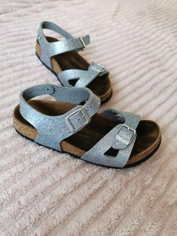 birkenstock sandały dziewczęce brokat sandałki profilowane na korku